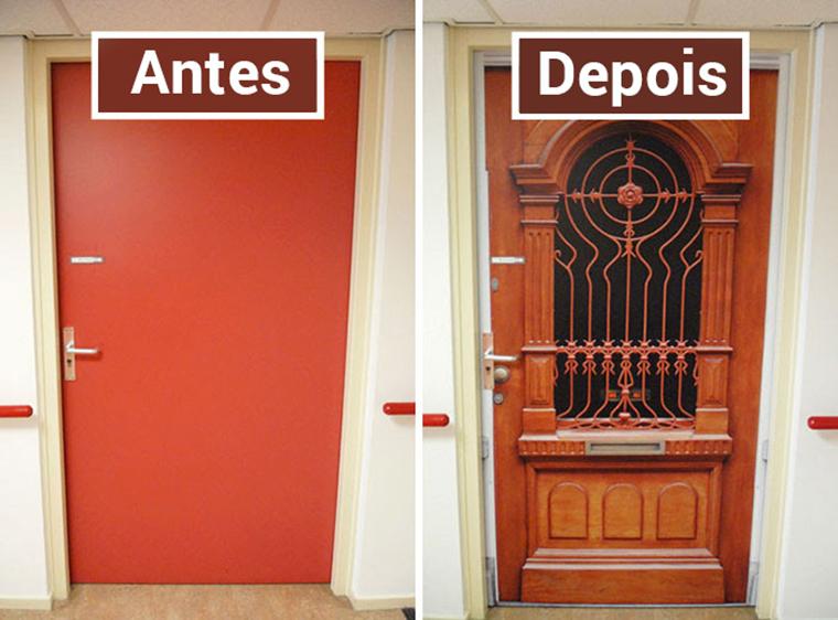 Empresa recria portas de idosos internados com demência para que possam se sentir em casa 9