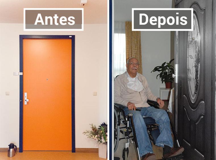 Empresa recria portas de idosos internados com demência para que possam se sentir em casa 7