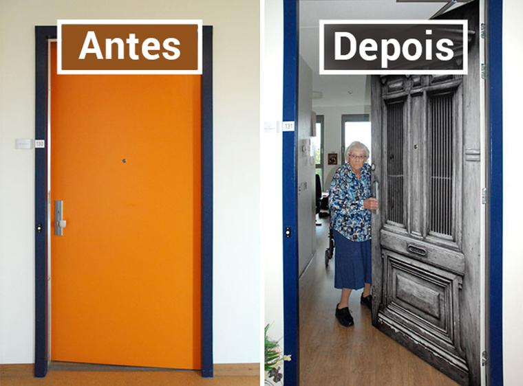 Empresa recria portas de idosos internados com demência para que possam se sentir em casa 5