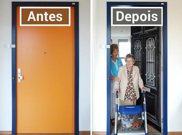 Empresa recria portas de idosos internados com demência para que possam se sentir em casa 3
