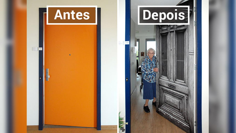 Empresa recria portas de idosos internados com demência para que possam se sentir em casa 15