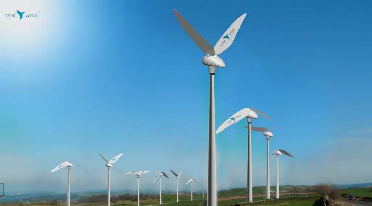 Simulação de como as turbinas geram energia limpa