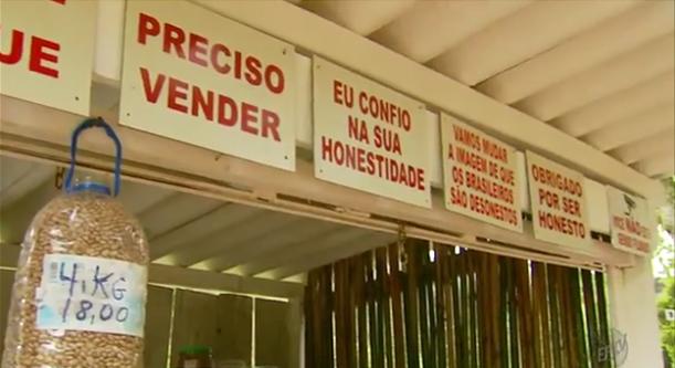 Conheça barraquinha de produtos orgânicos sem vendedor em Delfim Moreira (MG) 2