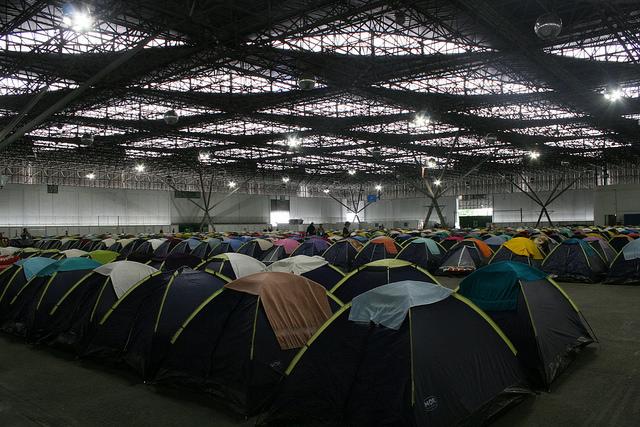 barracas da Campus Party