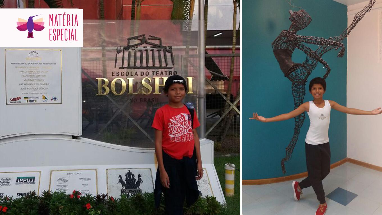 Antes de ir para a Escola Bolshoi ele encontrou a equipe do Razões