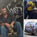 ônibus-barbearia atende moradores de rua