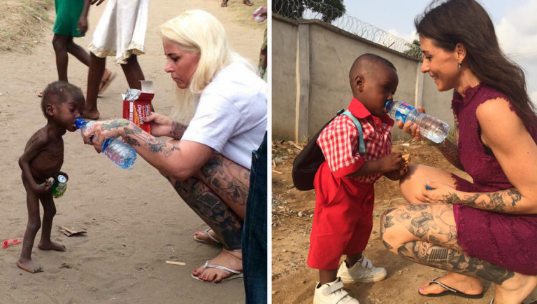 The first day of school of the malnourished boy who was rescued a year ago