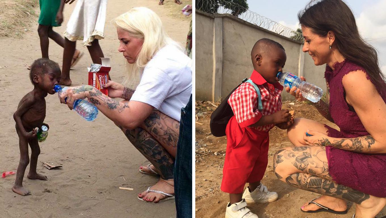 primeiro dia de aula do menino desnutrido resgatado