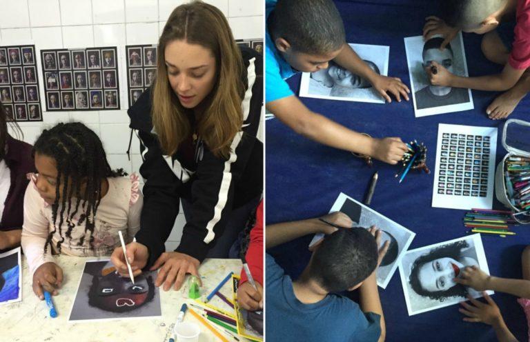 Modelo ajuda crianças de instituições com projeto social artístico