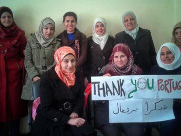 mulheres sírias agradecem Portugal