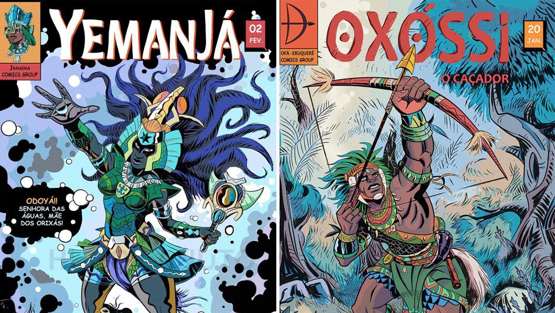 Orixás viram Personagens em história em quadrinhos