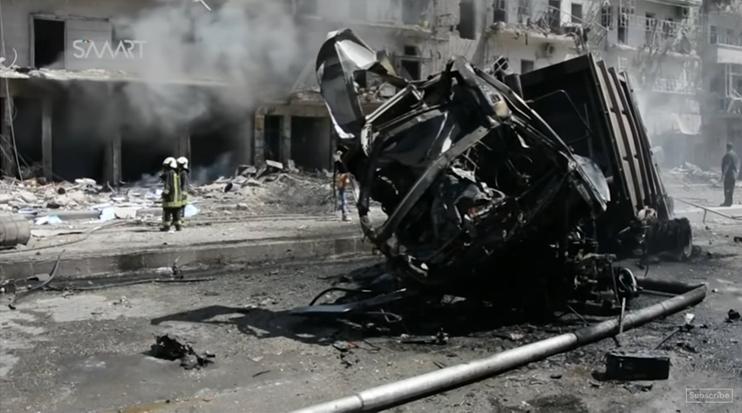 bombardeiro na síria