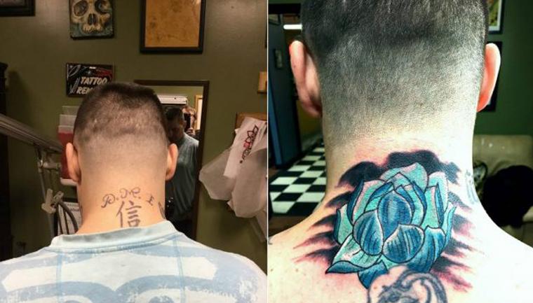 tatuagens são cobertas por outras