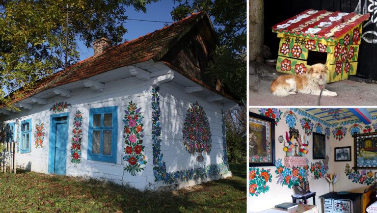vilarejo colorido na Polônia