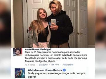 Whindersson Nunes ajuda jovem