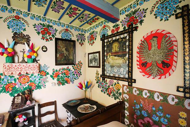 vilarejo colorido na Polônia, foto interna