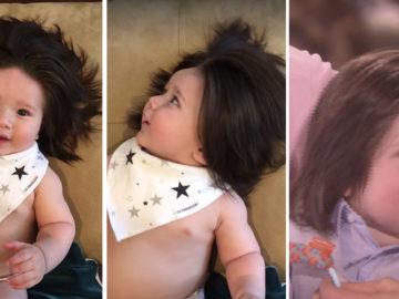 bebê cabeludo
