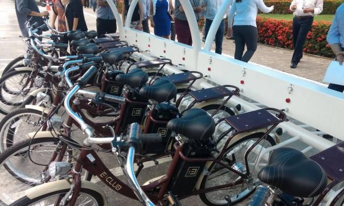 bicicletas elétricas podem ser carregadas