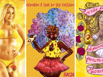 Skol convida ilustradoras para recriarem pôsteres machistas da marca 6