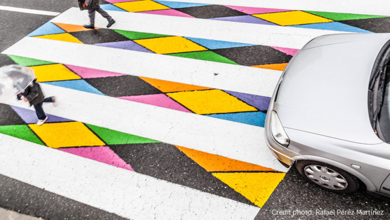 faixas de pedestres Madri