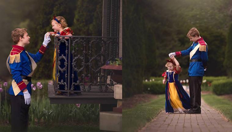 sessão de fotos como princesa