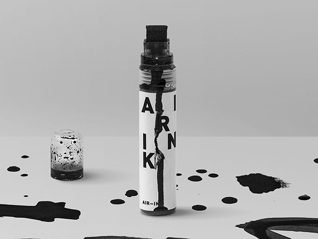 poluição do ar vira tinta