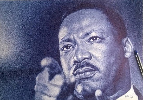 Com uma simples caneta, artista de Gana retrata personagens negros históricos em traços perfeitos 3