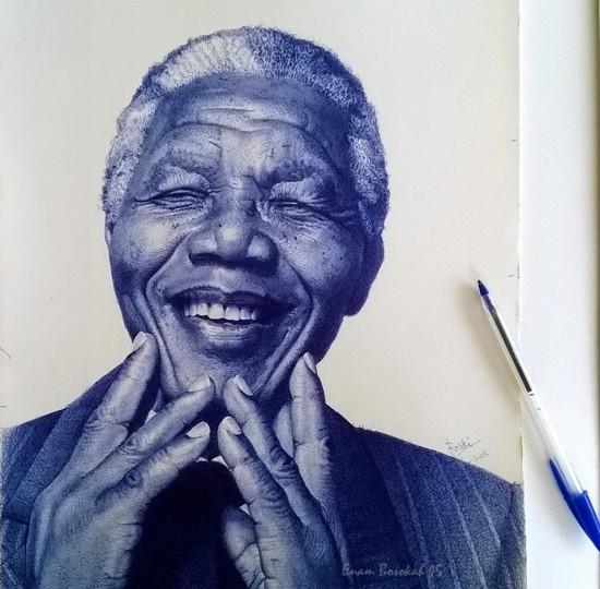 Com uma simples caneta, artista de Gana retrata personagens negros históricos em traços perfeitos 4