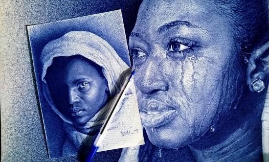 Com uma simples caneta, artista de Gana retrata personagens negros históricos em traços perfeitos 5