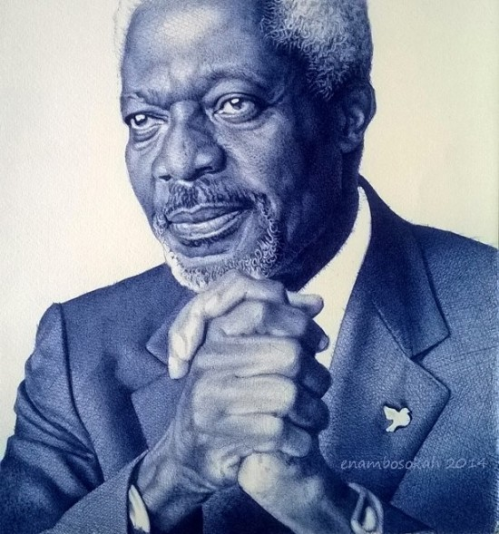 Com uma simples caneta, artista de Gana retrata personagens negros históricos em traços perfeitos 6