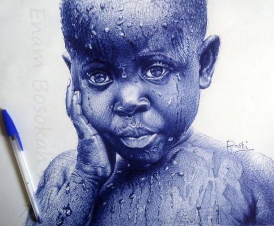 Com uma simples caneta, artista de Gana retrata personagens negros históricos em traços perfeitos 8