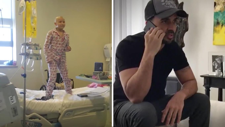 """Luis Fonsi, do hit """"Despacito"""" faz surpresa para menina com câncer que dançou sua música em hospital 1"""