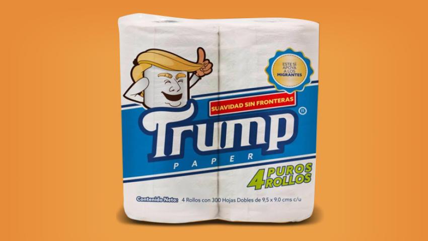 Mexicano lança papel higiênico 'TRUMP' que ajudará entidades de apoio a imigrantes 1