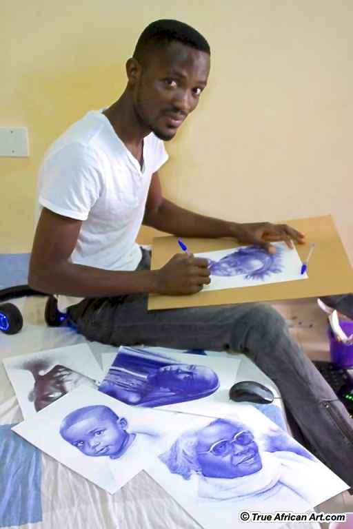 artista Enam e seus personagens negros históricos