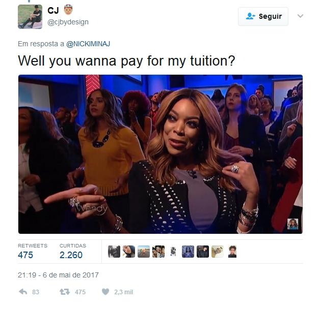 Nicki Minaj vai pagar dívidas de estudantes com boas notas na faculdade 1