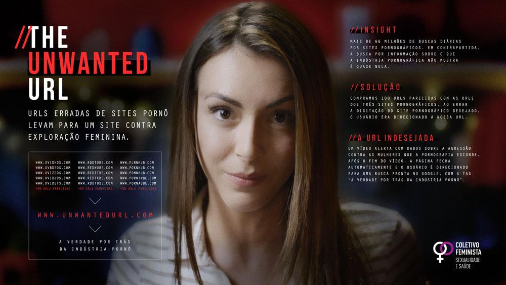 Urls erradas de sites pornô levam para um site contra a exploração sexual feminina 1