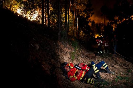 Foto de bombeiros portugueses exaustos viraliza e emociona o mundo 6
