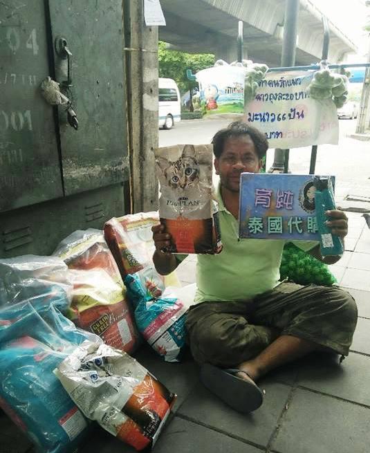Morador de rua na Tailândia vende limões para poder dar comida para os seus gatinhos 4