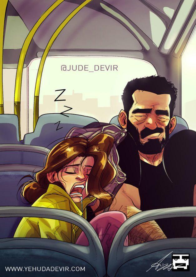 Artista cria desenhos divertidos de momentos com a esposa e mostra que o amor é simples 8