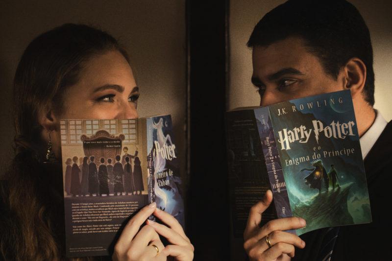 Casal brasileiro usa trem em São Paulo para ensaio inspirado em Harry Potter 4