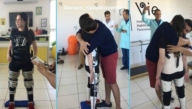 Lais Souza emociona ao ficar de pé pela primeira vez após acidente 2