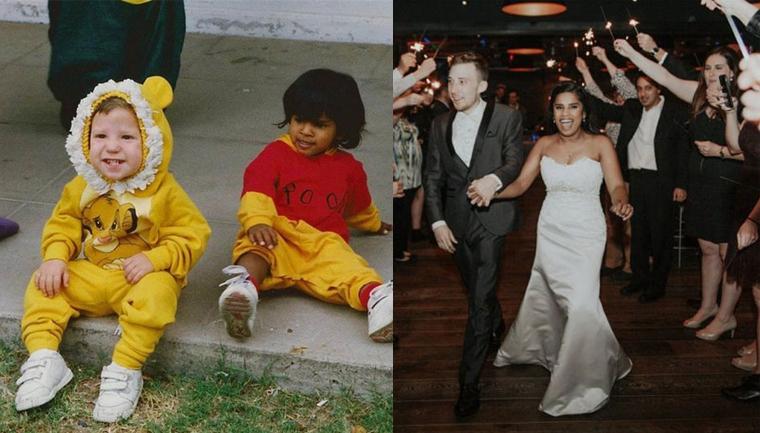 Eles se conheceram na pré-escola, acabaram de se casar e a internet não está sabendo lidar 1