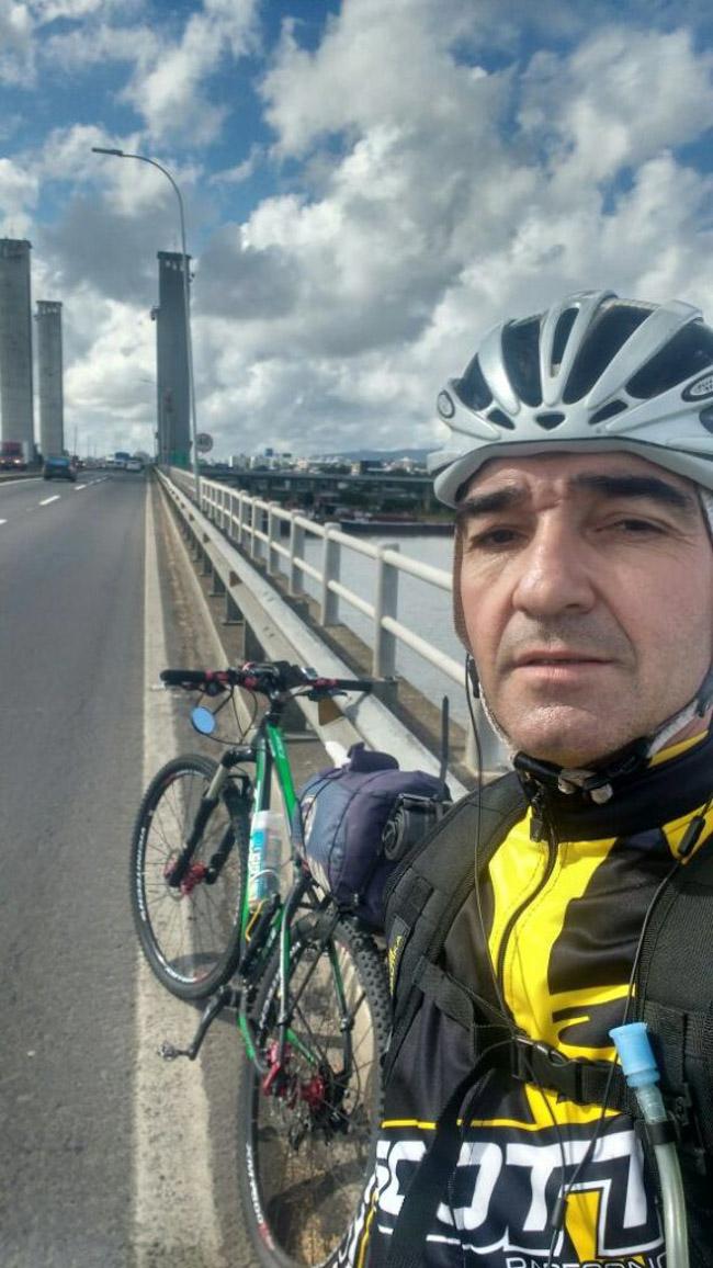 Ciclista sai de Porto Alegre e viaja mais de 1000 km para ver a filha em Florianópolis 6