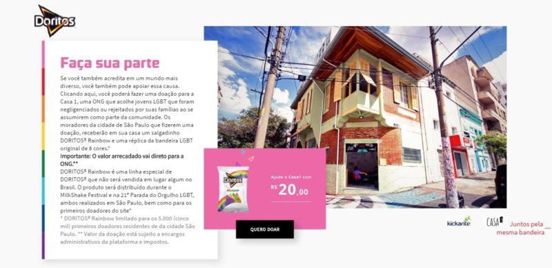 Doritos lança site para arrecadar fundos à casa que acolhe pessoas LGBTs expulsas de casa 1