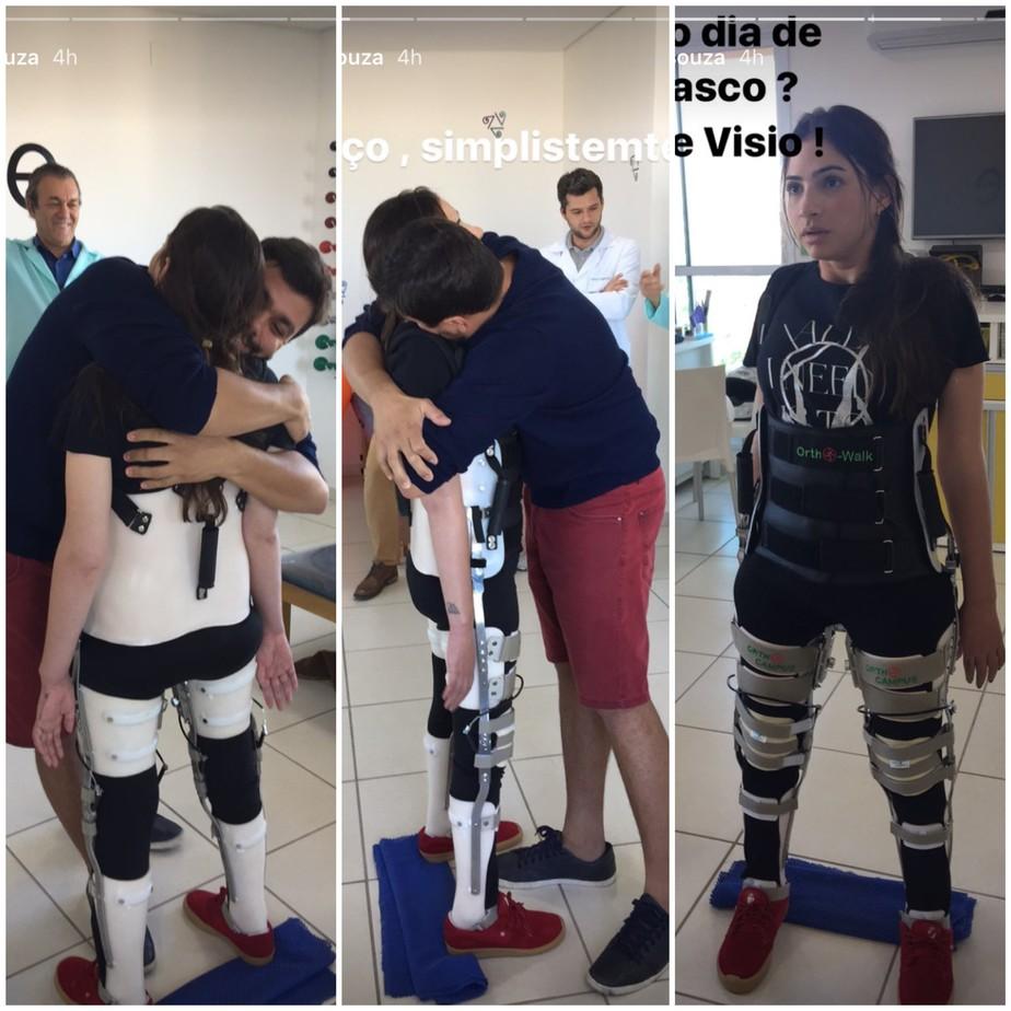 Lais Souza emociona ao ficar de pé pela primeira vez após acidente 3