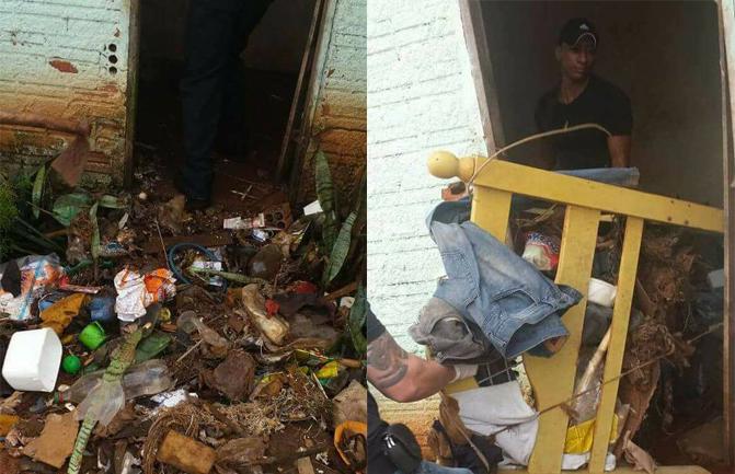 Há 6 meses, vigilantes cuidam de idoso esquizofrênico e com hábito de acumular lixo 4