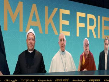 Papa Francisco, Dalai Lama e diversos líderes religiosos convidam fiéis a serem amigos 2