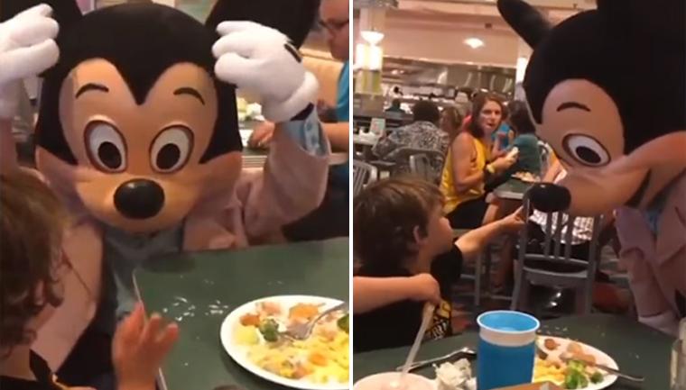Mickey teaf boy língua de sinais