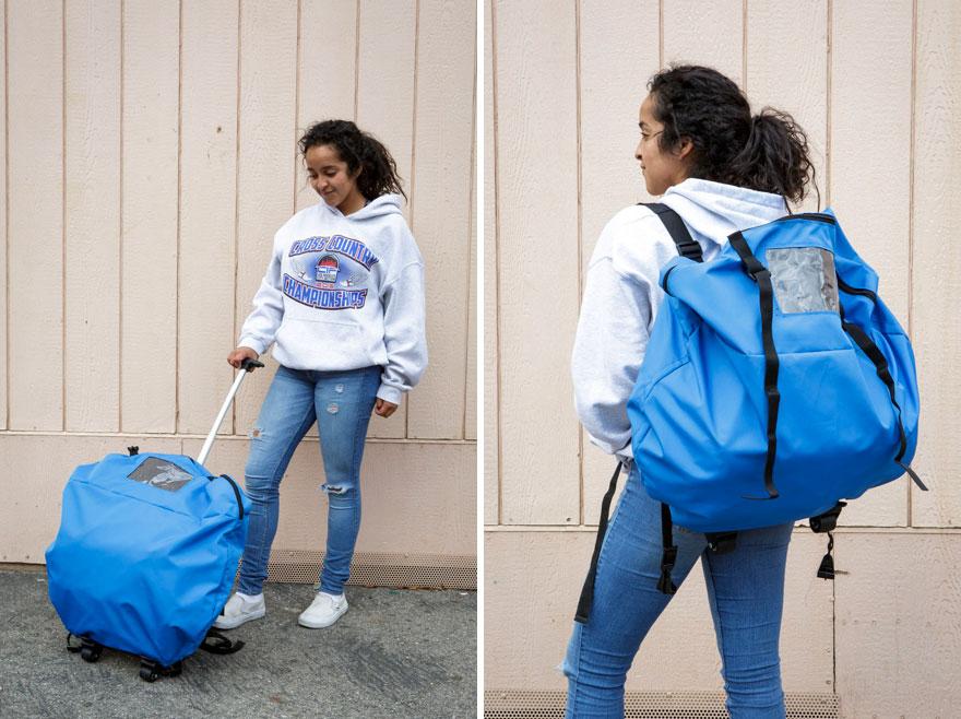 Jovens de baixa renda criam barraca-mochila para moradores em situação de rua 8