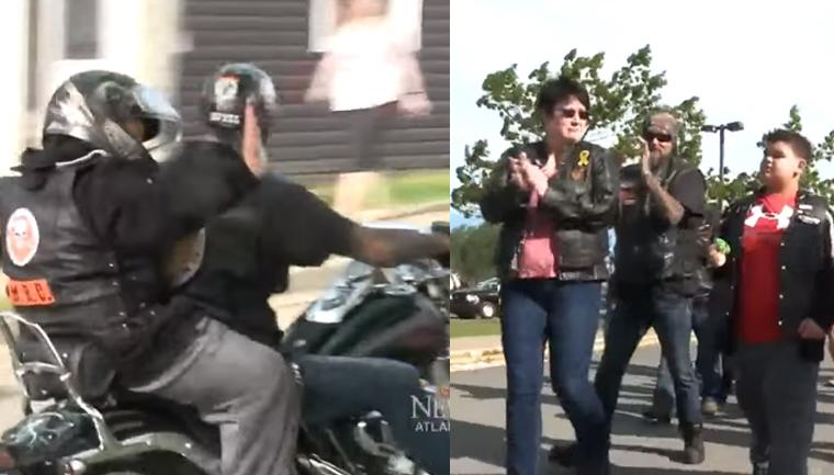 Menino de 10 anos que sofre bullying é escoltado por motociclistas até a escola 6